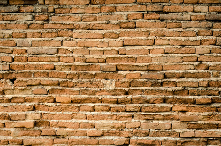 old brick wall: Old vintage brick wall background Stock Photo