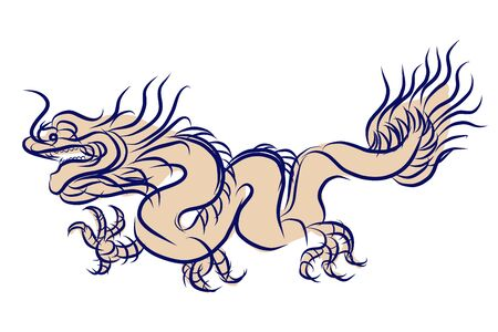 traditional culture: Chinese Dragon Traditional Culture, vector illustration