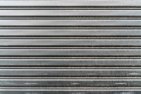dirty sheet: Dirty metal sheet of roller gate texture