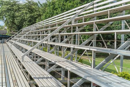 white metal: White metal grandstand Stock Photo