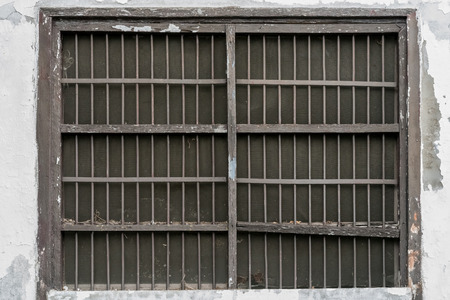 jails: Old Jails window on white wall