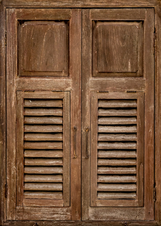 louver: Image of Old wooden window
