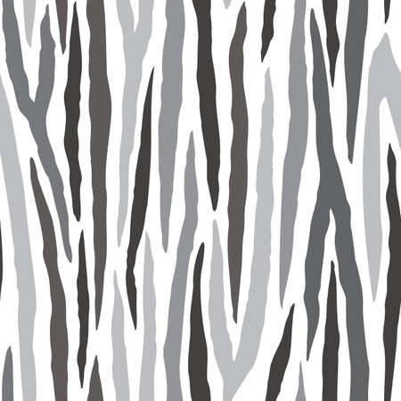 Vector Grayscale Zebra Stripe seamless pattern background from the Fancy Floral Zebra Collection. Good for fashion, accessories, stationery, bedding, packaging, home decor