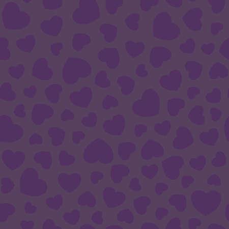 Dark Purple Texture with Love Hearts Seamless pattern background