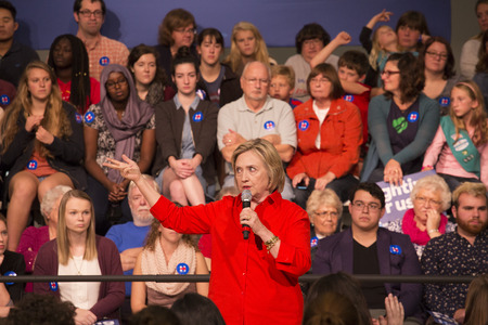 town hall: Grinnell, Iowa-November 3, 2015-Hillary Clinton at town hall