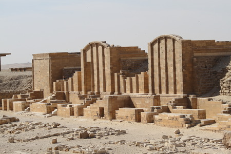 ruins: Sakkara ruins in Egypt Stock Photo