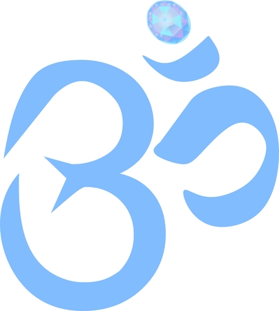 KrishnaOM sybmol with diamond