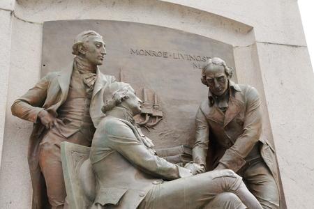 Exterior sculpture at the Missouri State Capitol