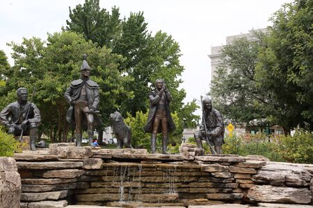 Lewis and Clark Sculpture grouping at the Missouri State Capitol