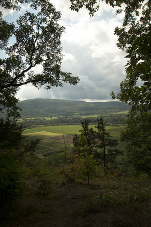 Views from the trail to the summit of Vromans Nose, a hill in Middleburgh, Scoharie County, New York.   Stock fotó