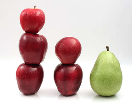 turnaround: Stack of Apples and Pear