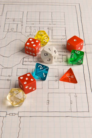 role play: Generic Role Play Dice on Game Map