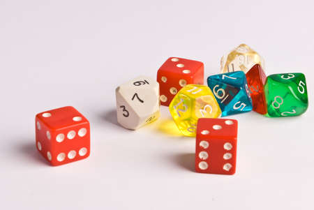 role play: Generic Role Play Dice Stock Photo