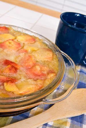 cobbler: Peach Cobbler Dessert Dish