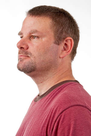 Caucasian male with a goatee Stock Photo