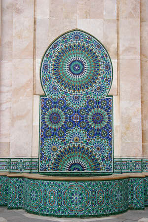 Mosaic and Fountain, Casablanca, Morocco photo