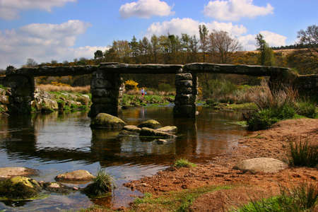 bridge over water: Bridge over water, Devon, England Stock Photo