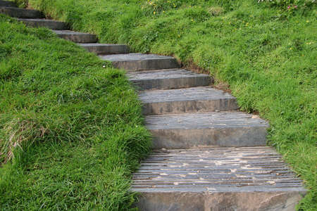 stone stairs in the countryside photo