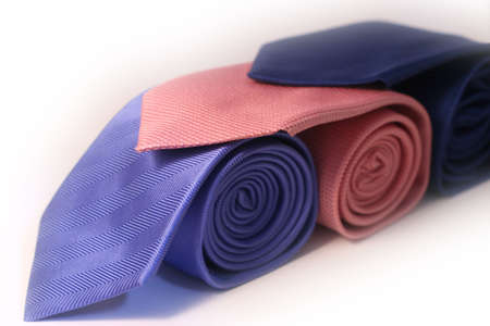Blue and Pink Ties photo