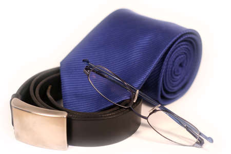 Tie, Belt and Glasses photo