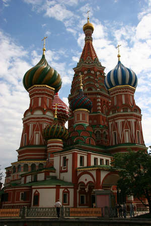 St. Basil's Cathedral on the Red Square in Moscow, Russia Stock Photo - 446697