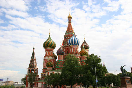 St. Basils Cathedral on the Red Square in Moscow photo