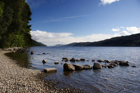 scot: Loch Ness Stock Photo