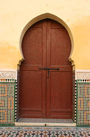 Moroccan entrance (2), door way, entry, exit, pattern Stock Photo - 566664