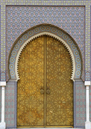 Moroccan entrance (3), door way, entry, exit, pattern photo