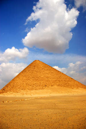 pyramid peak: The Red Pyramid of Dahshur, Egypt Stock Photo
