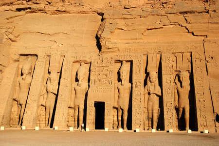 Temple of Queen Nefertari in Abu Simbel, Egypt   photo