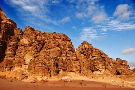 wadi: Wadi Rum Desert Landscape, Jordan   Stock Photo