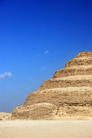 djoser: The Step Pyramid of Djoser abstract, Egypt