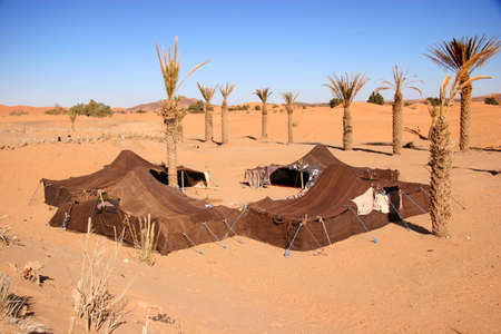 sahara: Bedouin camp in the sahara desert, Morocco