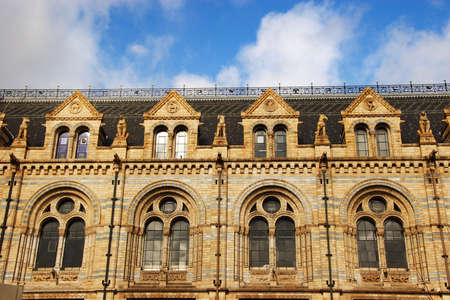 Natural history Museum -  windows on top floors photo