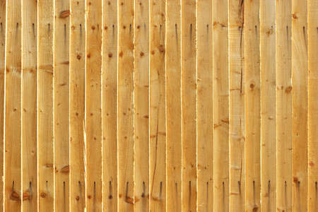 Wooden fence - landscape vertical planks Stock Photo