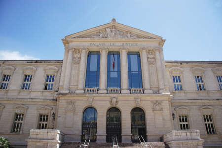 palais: Palais de Justice, Nice, France   Stock Photo