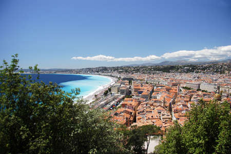 Nice town through the trees, Nice, France photo