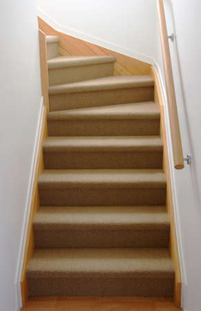 Internal stair case in carpet
