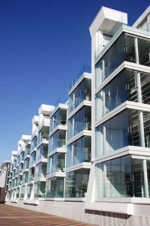 Waterfront aparment complex in Auckland, New Zealand