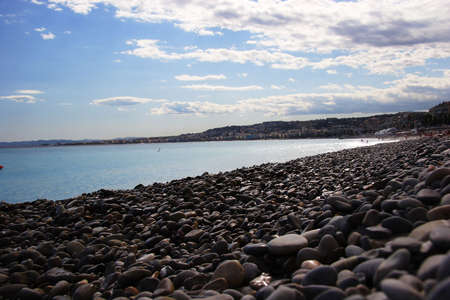 Nice pebble beach, Nice, France