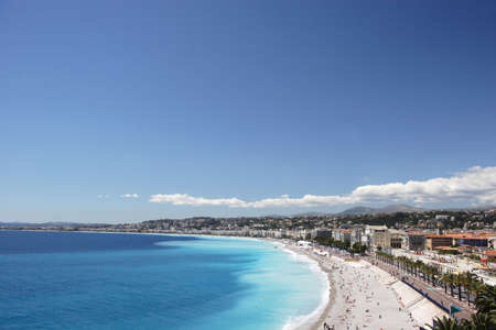 Nice Coastline - with clear space, Nice, France