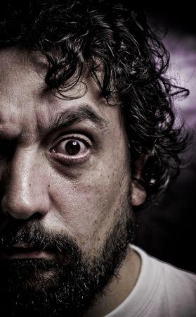 insane looking man Stock Photo - 1289505