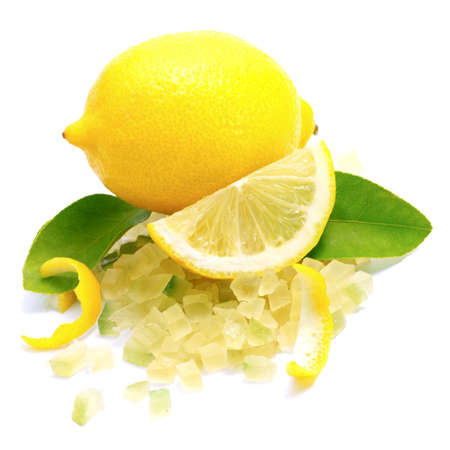 candied: Candied lemon peel