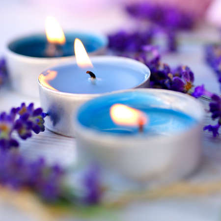 scented candle: Perfumed candles Stock Photo