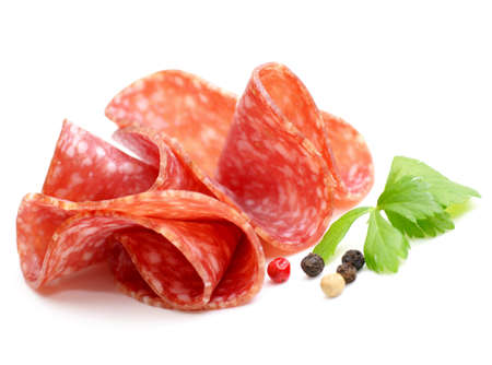 dry sausage: Salami Stock Photo