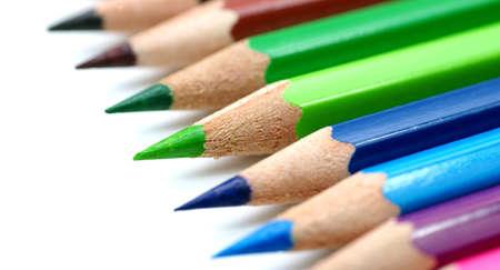 colour pencils: Colored pencils Stock Photo