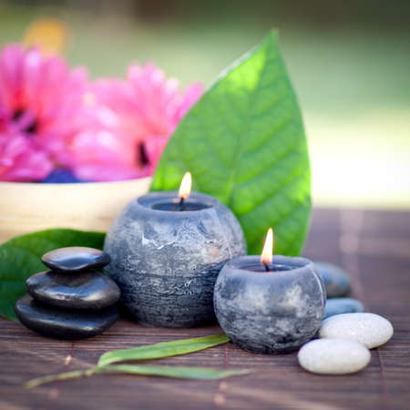 chillout: Perfumed candles Stock Photo