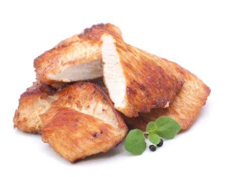 turkey hen: turkey hen cutlet Stock Photo