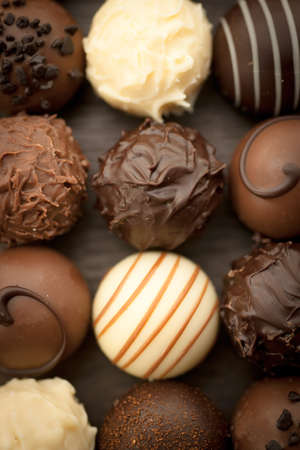 pralines: Several Pralines Stock Photo